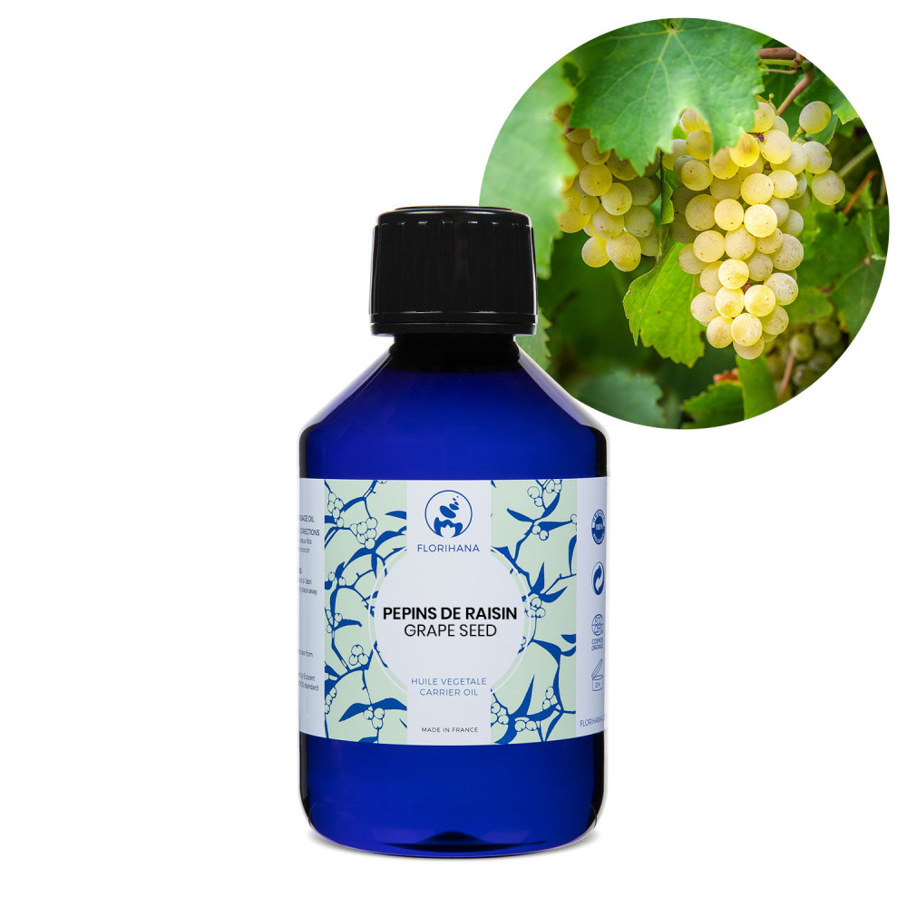 Grape Seed Oil Organic Carrier Oil Florihana